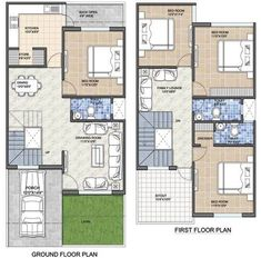 20 feet by 45 feet House Map - DecorChamp 2bhk House Plan, Model House Plan, Duplex House Plans, Dream House Plans, Small House Plans, House Floor Plans, Dream Houses, Small House Layout, House Layout Plans