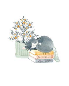 Artwork by Julianna Swaney — Brontë Kitty 8x10 print