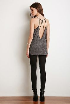 Marled Strappy Back Cami | Forever 21 - 2000167273