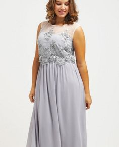 Little Mistress Curvy Suknia balowa light grey