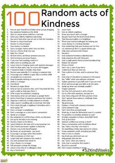 Check out these 100 wonderful random acts of kindness and get some ideas for taking part in the inspiring hashtag. Check out these 100 wonderful random acts of kindness and get some ideas for taking part in the inspiring hashtag.
