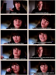 Lexie's big speech to Mark that she's always been in love with him. <3