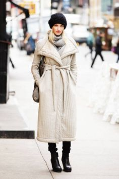 Found: Proof in NYC that puffer jackets can still be sophisticated #streetstyle