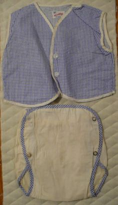 I can just imagine the dapper little guy wearing this diaper cover and vest.