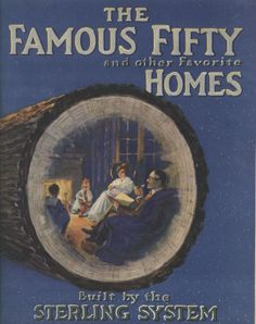 The Famous Fifty Homes, International Mill & Timber Co. From the Association for Preservation Technology (APT) - Building Technology Heritage Library, an online archive of period architectural trade catalogs. Select an era or material era and becom Bungalow Homes, Bungalow House Plans, Vintage House Plans, Vintage Homes, Sterling Homes, Vintage Architecture, Timber House, Craftsman Style, Craftsman Homes