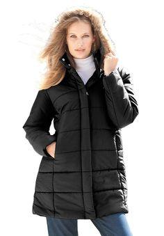 d24668d60c4 Roamans Womens Plus Size Quilted Short Parka Plus Size Coats