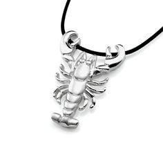 Lobster Necklace – Silver Ocean Jewelry #lobster #lobsterjewelry #silverlobster #lobsternecklace #lobsterpendant #lobstercharm #lobsterjewellery #oceannecklace #oceanpendant