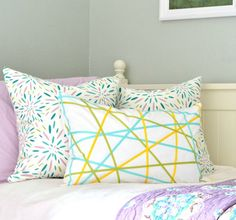 Use ribbon to amp up a plain pillow.