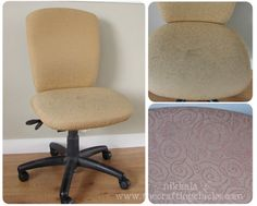 reupholster your office chair--actual tutorial!