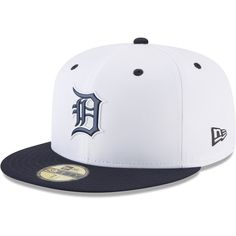 3c95a1d5a6f Men s Detroit Tigers New Era White Navy On-field Prolight Batting Practice  59FIFTY Fitted