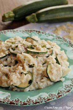 RISOTTO CREMOSO CON ZUCCHINE semplicissimo ti conquista al primo assaggio #ricetta #food #risotto #zucchine