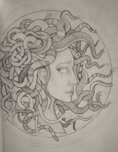 On her right forearm, a tribute to her best friend Marie, who loved the story of Medusa