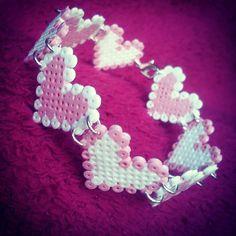 Heart bracelet hama mini beads by katherineabbots