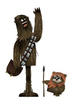 Chewie and Wicket by Wayne Harris