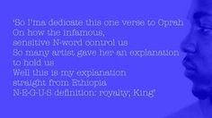 N-E-G-U-S =royalty; KING!!!