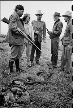 Slim Keith hunting with Ernest Hemingway in Sun Valley 1941.