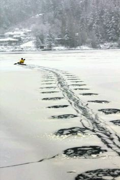 Ice Kayaking..  this I need to try.
