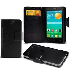 ( Black ) Alcatel Pop D5 Protective Stylish Fitted Super Thin Faux Leather Suction Pad Wallet Case Cover Skin http://www.smartphonebug.com/accessories/cool-10-alcatel-pop-d5-cases-and-covers/
