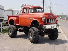old jacked up chevy trucks - Google Search
