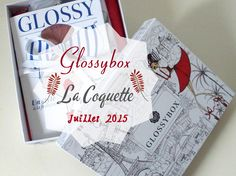 """Glossybox La Coquette Juillet 2015 Cette jolie Glossybox est arrivée hier dans ma boîtes aux lettres et le design spécial """"à la française"""" est so chic !! Sur la boxe il y a de belles sérigraphies de la tour Eiffel, un petit drapeau bleu blanc rouge et..."""