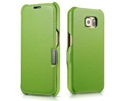 iCarer Samsung Galaxy S6 Side Open Luxury Series Genuine Leather Case Cover