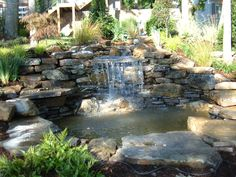 backyard+waterfalls+and+ponds | Backyard Waterfall