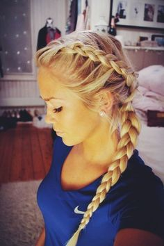 Step Up Your Braid Game With the Best French Braids On Pinterest | Dutch Braid Crown and Side Braid
