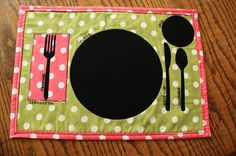 Make a place mat to help kids learn how to set the table
