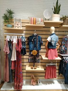 Clothing Store Interior, Clothing Store Displays, Clothing Store Design, Boutique Clothing, Bridal Boutique Interior, Boutique Decor, Baby Store Display, Gift Shop Displays, Shoe Store Design