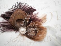 Peacock Wedding Hair Accessories Feather Hair by PeacockPixys, $36.00