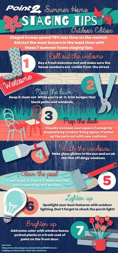 Summer Home Staging Tips – Outdoor Edition: visit the post to embed this infographic on your website!
