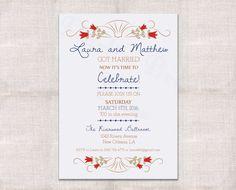 Wedding Reception, Celebration, After Party Invitation Custom Printable 5x7