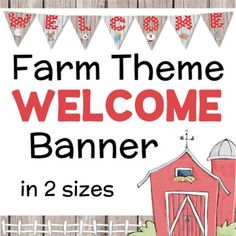 This is a welcome banner for your classroom in a farm theme. The banner comes in two sizes: letter paper and ledger - with one letter per page. Each has a different farm theme image. Welcome To Preschool, Classroom Welcome, Daycare Rooms, Home Daycare, Preschool Classroom, Classroom Activities, Preschool Ideas, Classroom Design, Classroom Themes