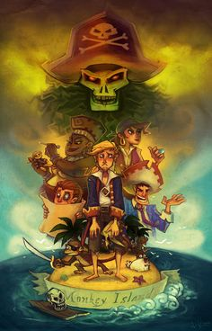 I am the proud owner of one of these Monkey Island prints after I happen to find the artist at the Toronto Fan Expo this weekend. Awesome piece! Curse you Guybrush Threepwood by neomonki.deviantart.com