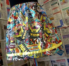 Super Hero Clothes, Comic Strip Skirt, Super Hero WOMENS Skirt,marvel, Summer Mini Skirt, ROOBYS