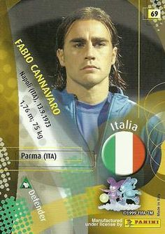 2002 Panini World Cup #69 Fabio Cannavaro Back