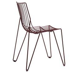 Tio tuoli, viininpunainen