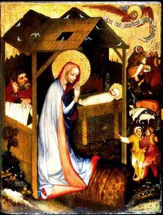 Nativity  1370 Master of Altar of Trebon. Prague