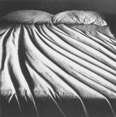 'Bed' (gelatin silver print) by Anne Noble. Still Life Photography, Artistic Photography, Art Photography, Straight Photography, Photography Composition, Monochrome Photography, Black White Photos, Black And White Photography, Non Plus Ultra