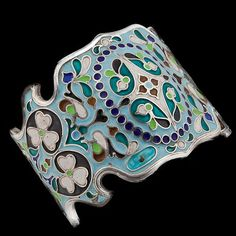 Silver and Enamel Bracelet. Buchara. | Circa 1891 | These pieces were generally made in the Caucasus, for export to Bukhara, where they were often bought (having been previously commissioned) by rich people who would then give them to other wealthy friends