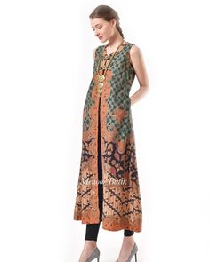 Batik Dress/outer Modest Fashion, Hijab Fashion, Trendy Fashion, Batik Kebaya, Batik Dress, Outer Batik, Sleeveless Coat, Batik Pattern, Batik Fashion