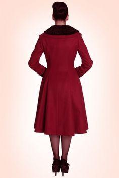 Bunny Vivien Coat in Burgundy Red 152 20 13452 20140625 0009