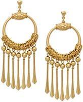Bar III Gold-Tone Hoop and Spike Chandelier Earrings