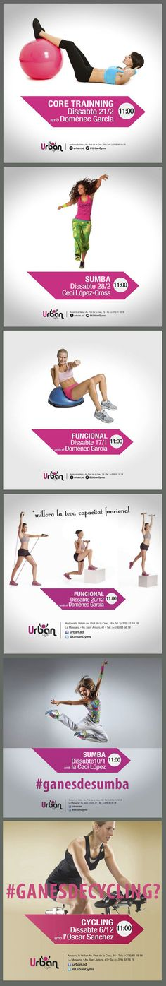 Urban Gym Andorra Facebook Graphics by Núria Cerdà Male for 9mk Advertising Agency.