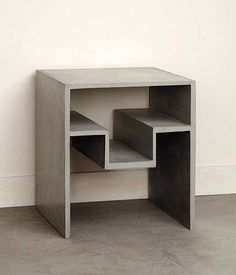 contemporary concrete bed-side table DUCTAL COMPACT CONCRETE