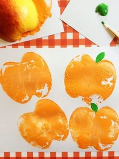 These Pumpkin Apple Stamps are a fun way to celebrate the coming autumn season! This is a kids craft that will keep children busy creating works of art! Apple Painting, Painting For Kids, Art For Kids, Pumpkin Art, Pumpkin Crafts, Texas Crafts, Halloween Crafts For Kids, Kids Crafts, Halloween Ideas