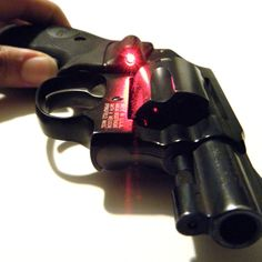 Crimson Trace Laser Grip Sight on a Smith & Wesson .38 special