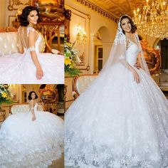 Full Vintage Lace Arabic Wedding Dresses 2016 Ball Gown Sexy Back 1/2 Long Sleeves Plus Size Dubai African Bridal Gowns Robe Mariage 2016 Wedding Dresses Princess Wedding Dresses Arabic Wedding Dresses Online with $269.72/Piece on In_marry's Store | DHgate.com