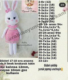 Best 11 Crochet Amigurumi Bunny Pattern ( English only Crochet Bunny Pattern, Crochet Rabbit, Crochet Patterns Amigurumi, Baby Knitting Patterns, Amigurumi Doll, Crochet Dolls, Doll Patterns, Crochet Disney, Crochet Baby Booties