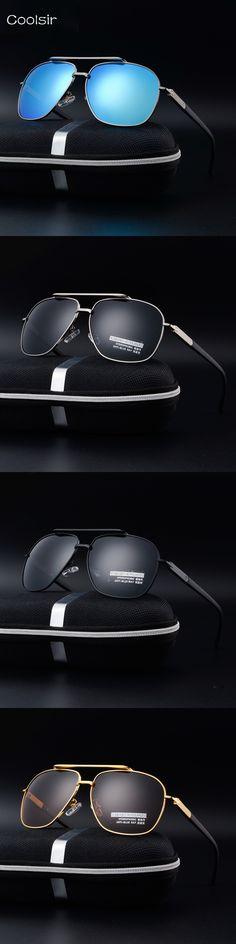 2017 Hot Fashion Brand Design Polarized Sunglasses Men Vintage classic Metal Frame Driving Goggles Pilot Sunglasses gafas de sol